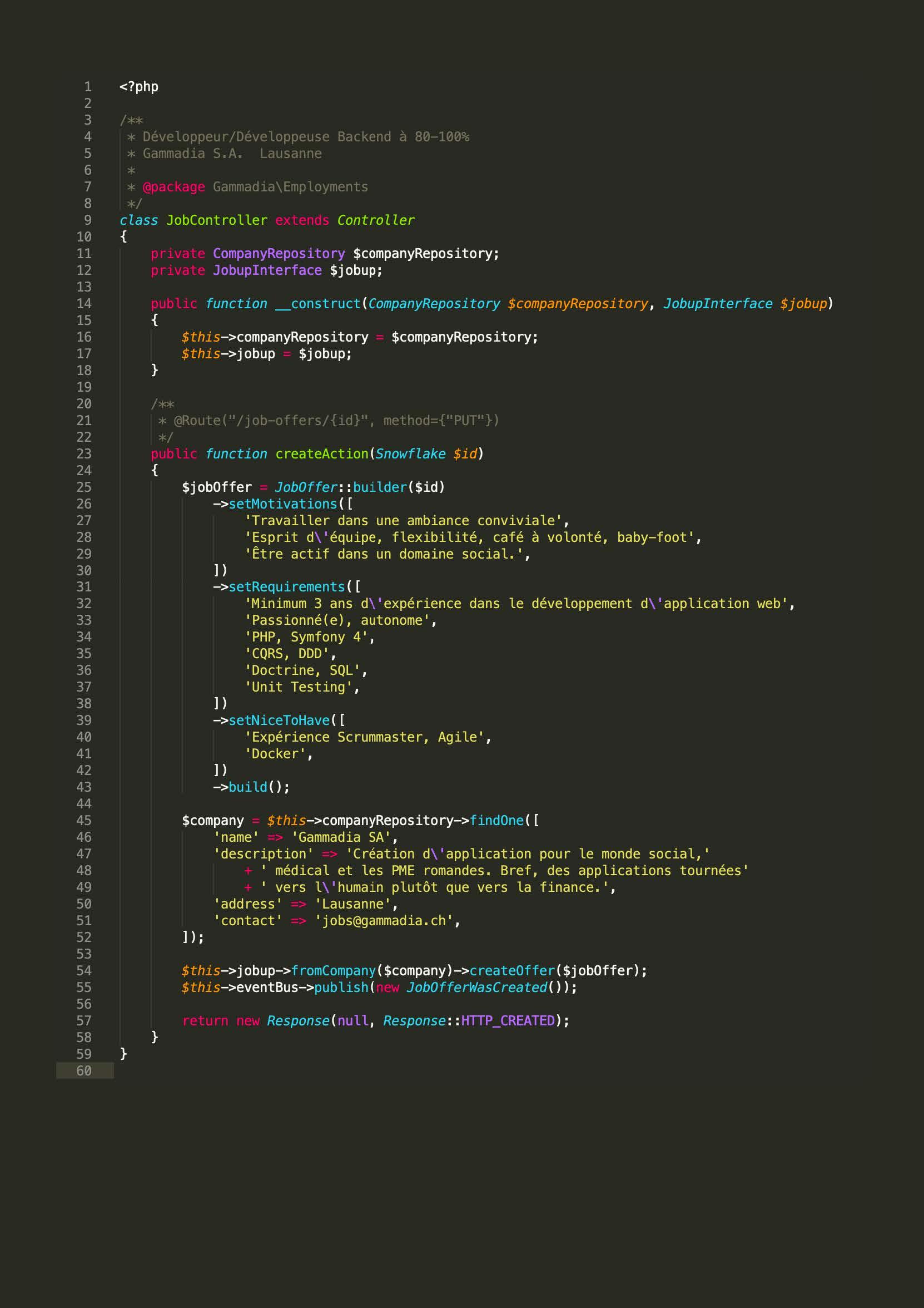 Un(e) développeur Backend - Job offer at Gammadia S A